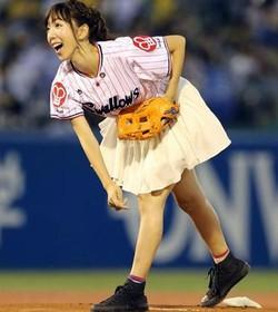 浜崎美保の始球式