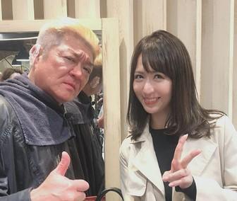 がかわいい奥村美香と小沢仁志とのツーショット画像