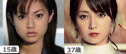 深田恭子の昔とUQcmの顔画像を比較