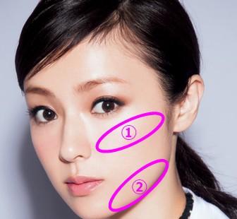深田恭子の整顔施術箇所はエラ骨と頬骨の2箇所