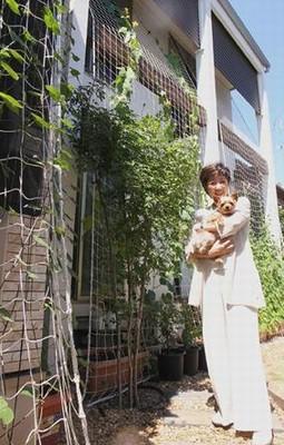 小池百合子の自宅のお庭の画像