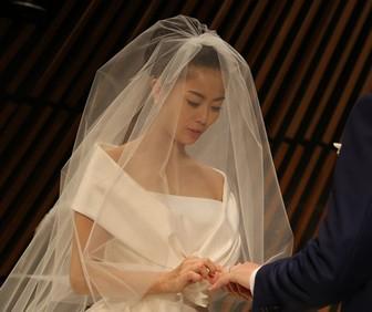 大和田美帆と旦那の指輪の交換