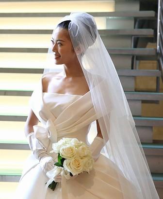 大和田美帆のウェディングドレス姿2