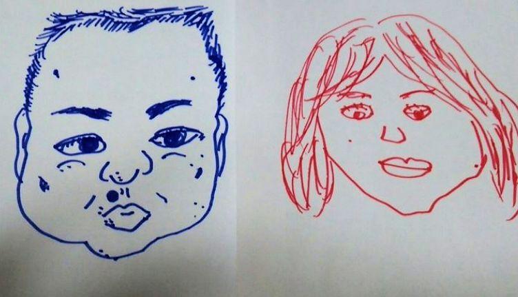 内海崇の結婚した嫁の似顔絵画像