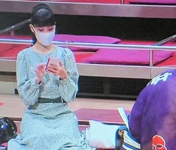 相撲前列の女性の綺麗な画像1
