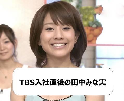 TBS入社直後の田中みな実