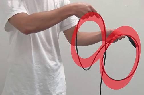ケーブル早巻きコンテストの線の巻き方