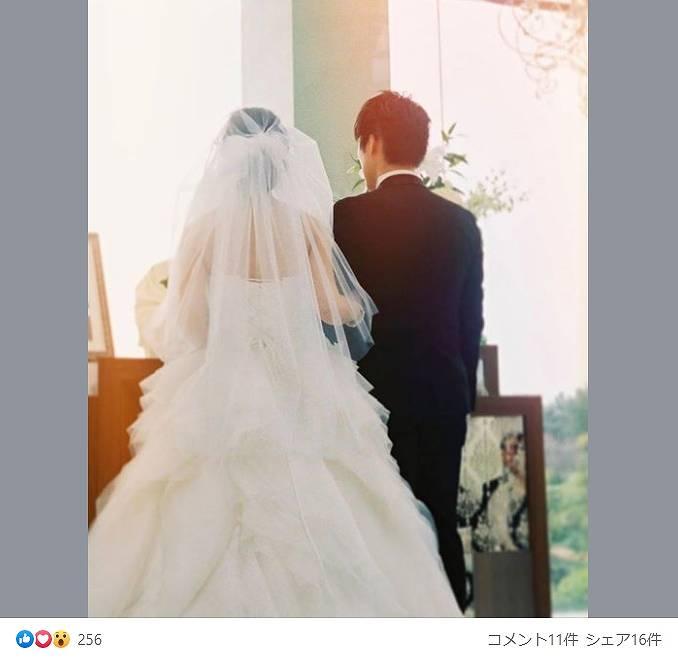 唐田えりかの姉の結婚式画像