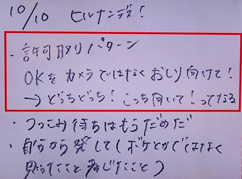 佐藤栞里の反省ノートの中身