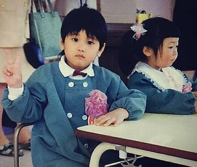 大谷翔平の幼稚園生の画像