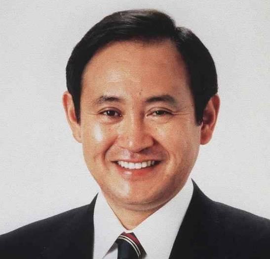 菅義偉,若い頃,髪型