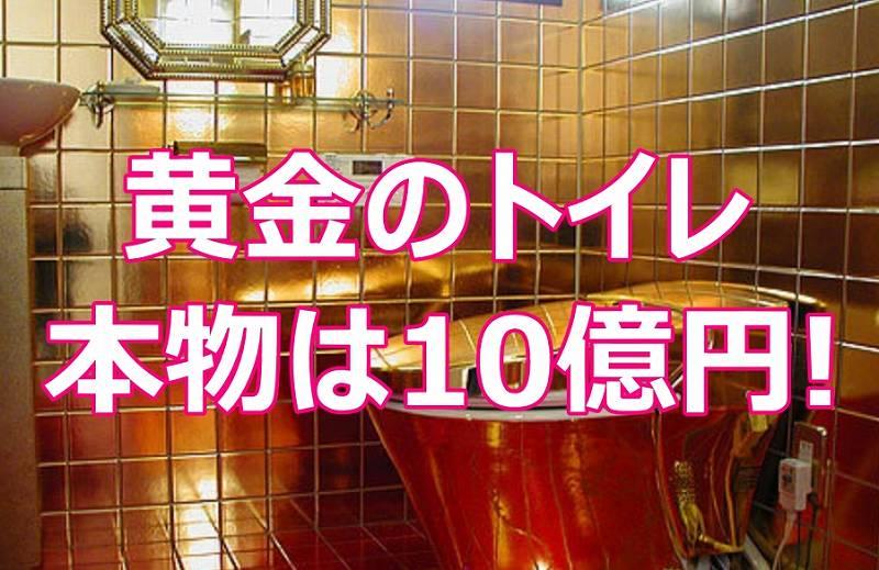 黄金のトイレが桜街道・道の駅にあるのは嘘!本物は10億円のコレ