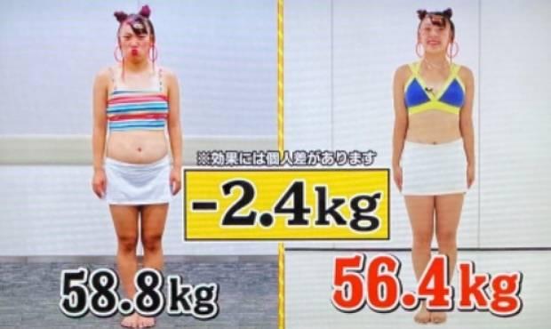 フワちゃんが痩せた画像比較1