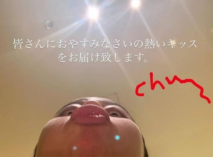 cocomiのキスの変顔