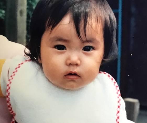 矢田亜希子の昔・赤ちゃんの顔