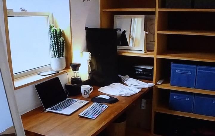 マークパンサーの自宅の仕事部屋