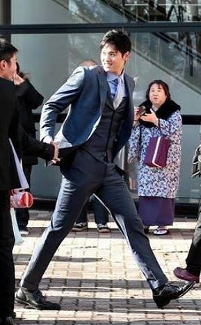 大谷翔平,スーツ姿,カッコいい,イケメン,画像1