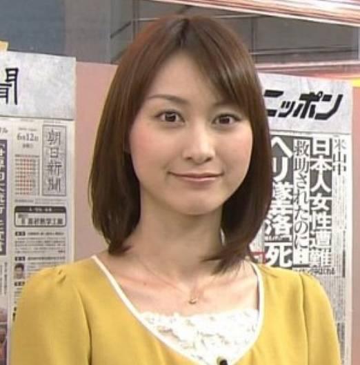 小川彩佳の若い頃のかわいいアナウンサー時代の顔