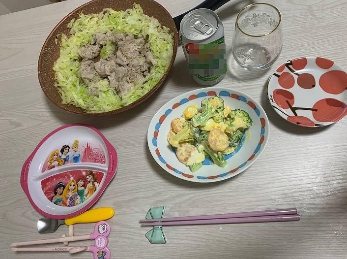 小林礼奈の料理が不味そうな食卓