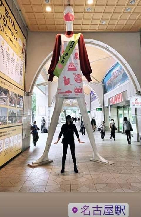 深瀬菜月のインスタ匂わせ画像の名古屋駅