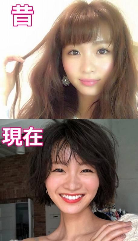 岡崎紗絵の痩せた顔画像比較