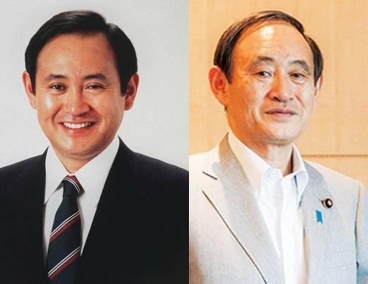 菅義偉の昔の太ってた画像比較1