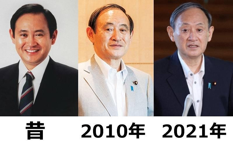 菅義偉の昔の太ってた画像比較2