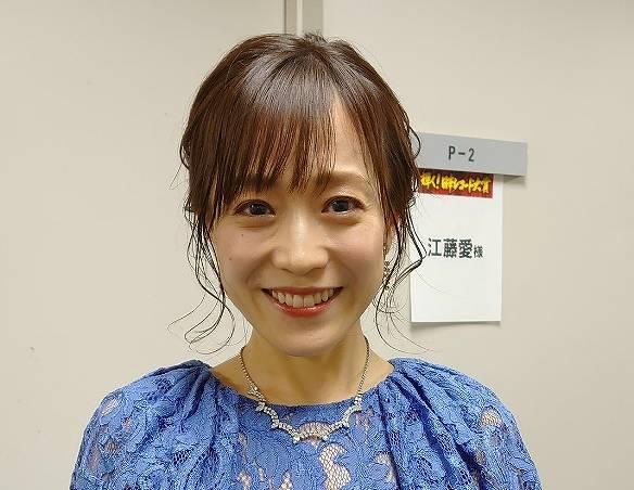 江藤愛の今の痩せた顔画像