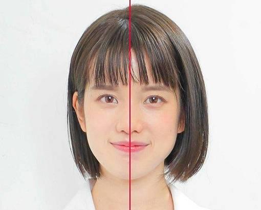 弘中綾香の顔が歪んで曲がってる検証画像