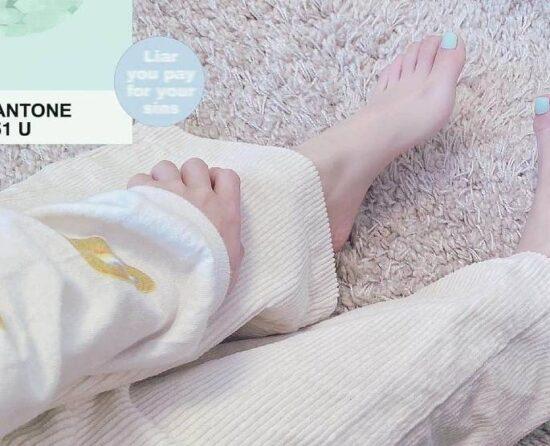 香音の足のサイズと足指も長い