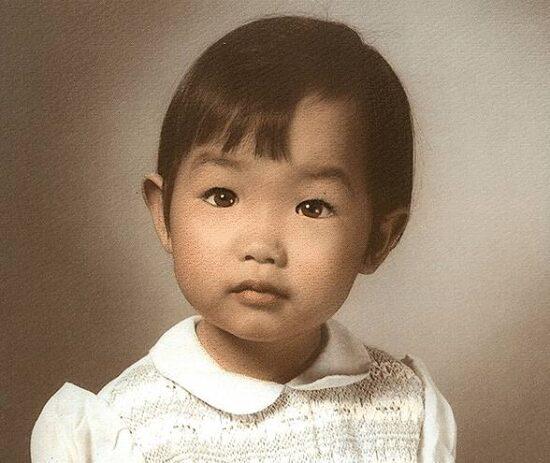 堀内詔子の若い頃の幼児期がかわいい